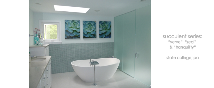 Installation Bathroom Succulents Macro Photography Matted & Giclée Canvas Prints