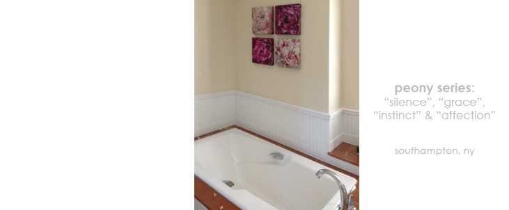 Installations Bathroom Peony Macro Photography Matted & Giclée Canvas Prints