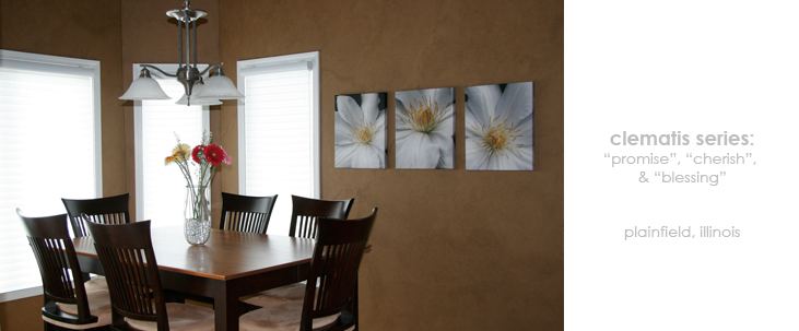Dining Room Floral Wall Decor Macro Photography Matted & Giclée Canvas Prints